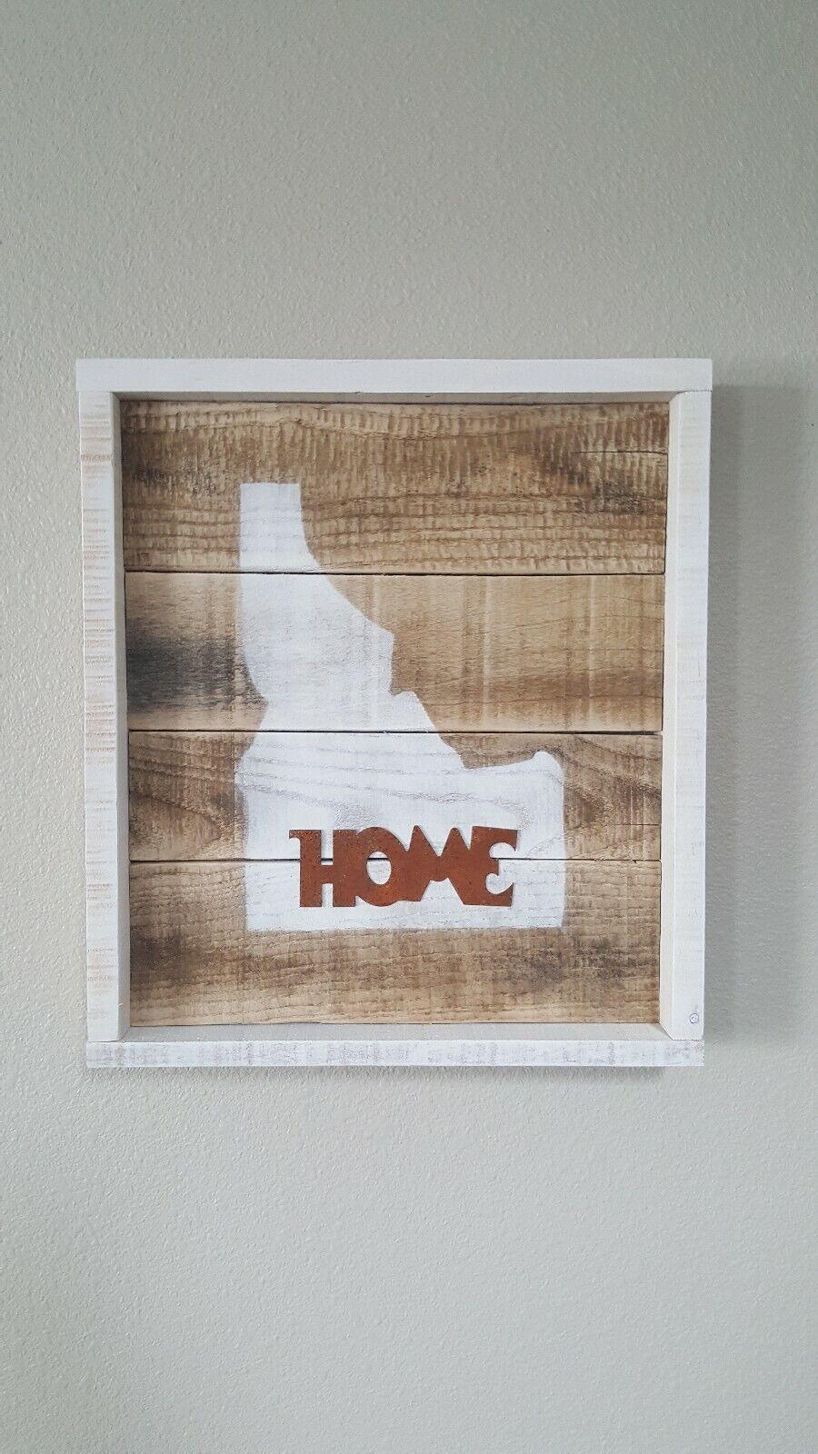 Rustic Reclaimed Wood Idaho Home Sign