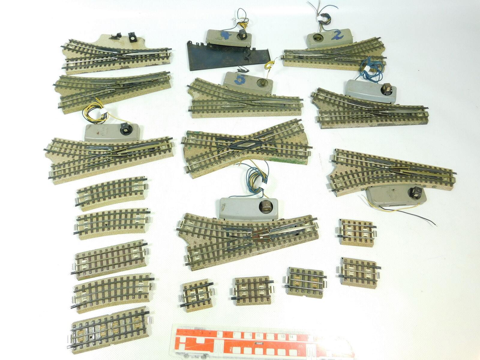 BR974-2x Märklin H0 00 AC Bastler-E-Weiche etc (M-Gleis) für 3600 800