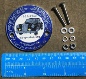 "Mercedes-Benz ""International Ponton Owners Group"" (IPOG) Grille Badge"