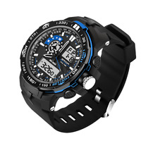S-SHOCK Men Mens Waterproof Quartz Watch Digital Analog Military 5ATM Watch