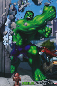 POSTER-CARTOON-THE-HULK-PUNCHING-FREE-SHIPPING-2714-RP67-i