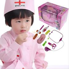 Kids Children Role Play Doctor Nurse Kit Medical Box Toy Set Birthday Xmas Gift