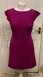 Nouveau-Topshop-Rose-Magenta-Courte-Robe-Patineuse-Taille-6-8-10-ou-12