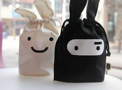 DRAWSTRING BENTO LUNCHBOX SANDWICH BAG NINJA RABBIT storage Bag sorting bags