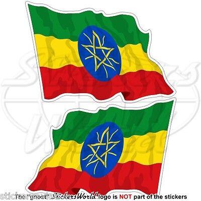 110mm ETHIOPIA Ethiopian Flag AFRICA 4,3 Vinyl Bumper Sticker Decal x1 +2 BONUS