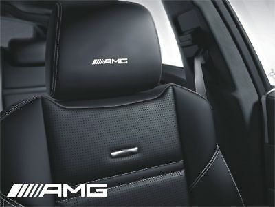 5x AMG Symbol logo for leather seats and other flat and smooth surfaces