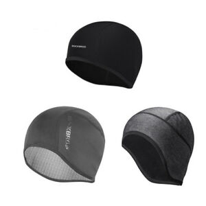 RockBros Winter Cycling Hiking Running Windproof Warm Cap Hat Black Free Size