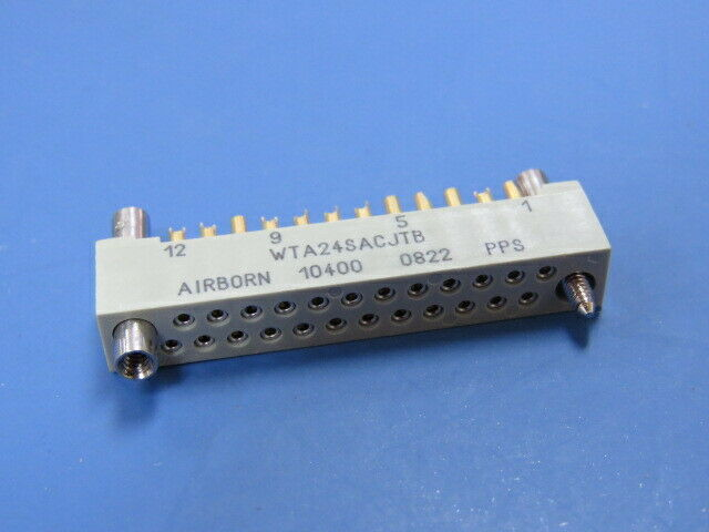 AIRBORN  WTA24SACJTB Qty of 1 per Lot WTS SERIES; 2 ROW, STRAIGHT PLUG WITHOUT M