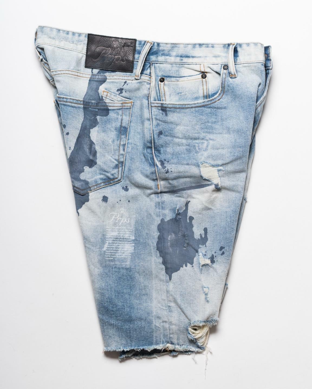 PRPS  188 Luz Azul Denim & 039;challenger& 039; de  algodón elástico Corte De Jean Shorts 32  comprar descuentos
