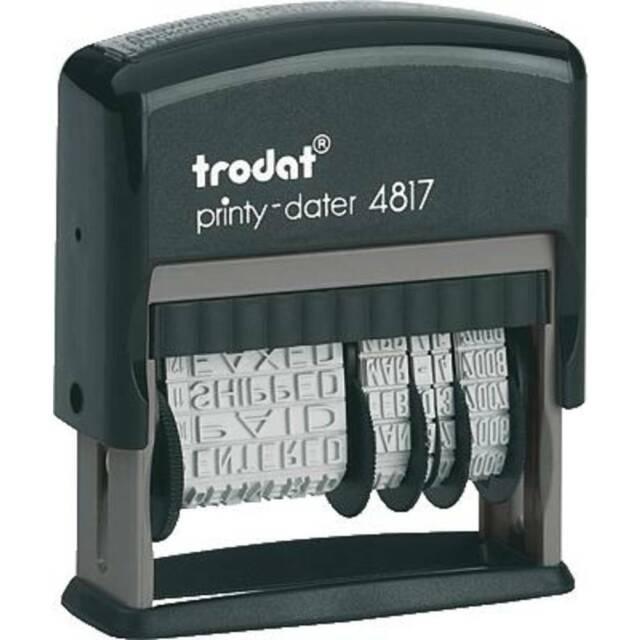schwarz mit Datum trodat Wortbandstempel Printy Dater 4817