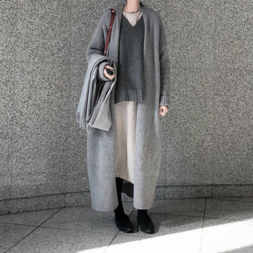Femmes chaud Pullover Long Manteaux Duster Cardigan Vestes Chunky bustier Tricot Doux