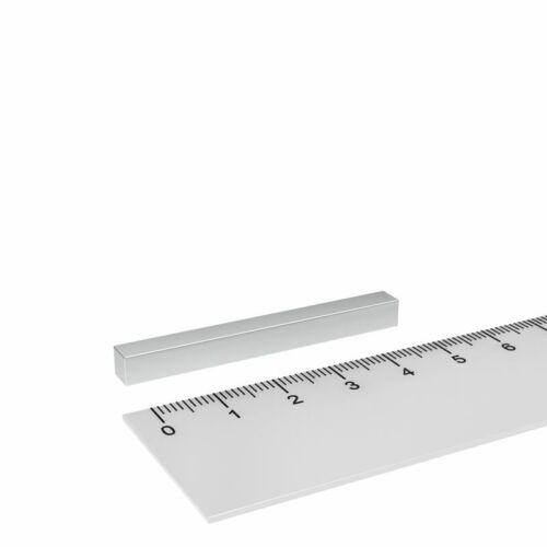 LEISTUNGSSTARK 10x NEODYM QUADER MAGNET 50x5x5 mm MIT HOHER HAFTKRAFT