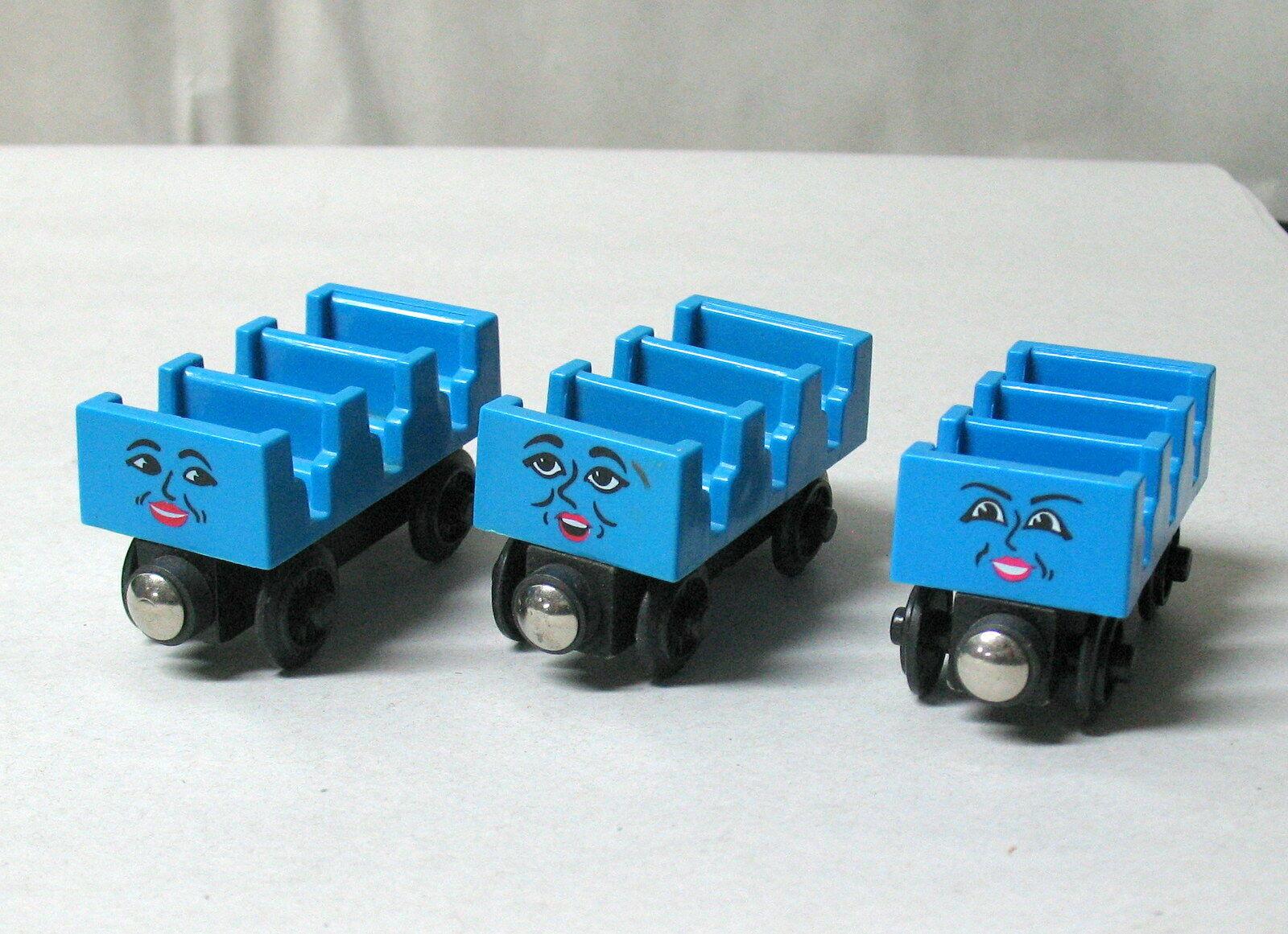 Thomas & Friends, Wooden Railway, ADA, MABEL & JANE ROLLER COASTER CARS, 1997