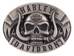 Harley-Davidson-Men-039-s-The-Beast-Belt-Buckle-Antique-Nickle-Finish-HDMBU11499