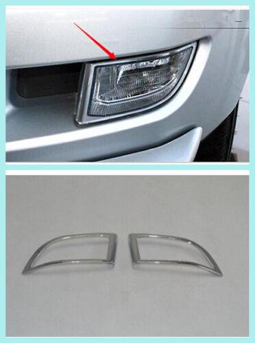 ABS Chrome Front Fog Light Lamp Cover Trim 2PCS For Toyota Prado Fj120 2003-2009