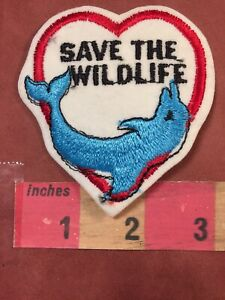 Vtg Rainbow Dolphin Vintage Patch 3 Dolphins BLUE SKY VERSION 00B3