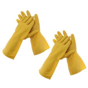 2-Paar-lange-Handschuhe-Hochleistungs-Naturlatex-Gummihandschuhe-Grip-Garden