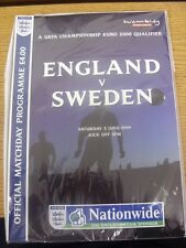 05/06/1999 England v Sweden [At Wembley] . Any faults are noted in brackets, oth