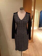 Oui Dress Size 12 BNWT Black Grey RRP £179 Now £62