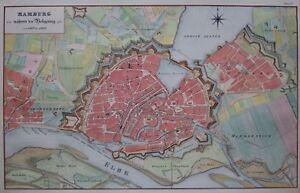 Hambourg Pendant Le Siège De 1813 à 1814-p. Suhr-original-rare-afficher Le Titre D'origine Nyuxaonv-10110612-843829126
