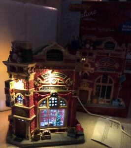 Lemax Christmas Village Michaels.Details About Rare Lemax Christmas Incredible Toy Emporium Lights Music Michaels Exclusive