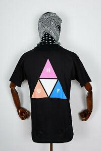 Huf Worldwide Skateboard T-Shirt Tee Prism Triple Triangle TT Black in S