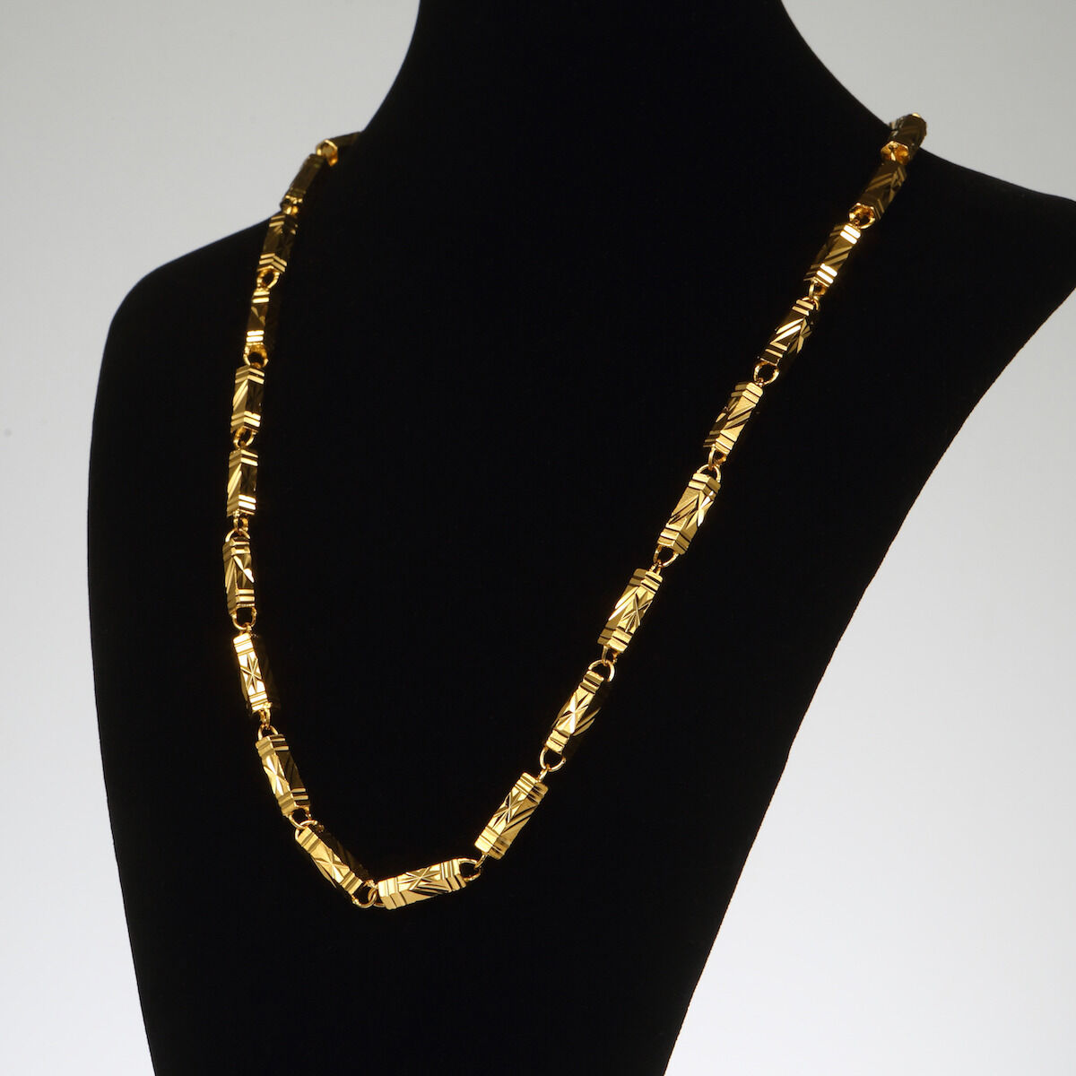 Xxl Solid Gold Necklace Mens Chain 24k Yellow Gold Filled