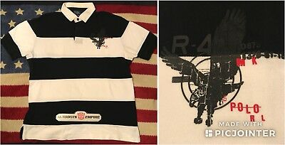 Men's Clothing Industrious Vintage Ralph Lauren Polo Rl Eagle Rugby Shirt L Pwing Stadium Beach Tech Palace Elegant In Style