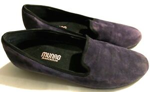Womens-Munro-American-7-5-N-Purple-Suede-Slipper-Loafer
