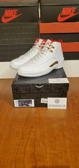 Air Jordan 12 Fiba Us Size 11 White Red Metallic Gold Men S For