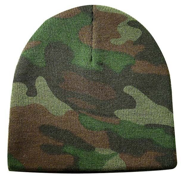 NEW CAMOUFLAGE SHORT BEANIE HAT CAP ARMY CAMO