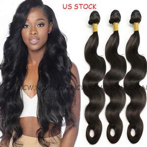 7A-Unprocessed-Brazilian-Indian-Virgin-Human-Hair-Extensions-Weave-3Bundles-300g