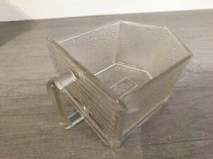 große Poncet Glasschütte  Glas Schütte Pressglas Vorratsgefäße
