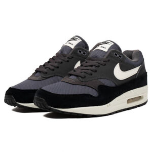 Nike-Air-Max-1-AH8145-012-Size-8-13-Men-039-s-brand-new-all-black-brown-shoes