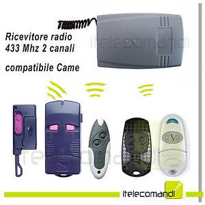 Inquiet Ricevitore Radio Ricevente 433 Mhz 2canali Compatibile Came Top 432 -434 E Tam Renforcement De La Taille Et Des Nerfs