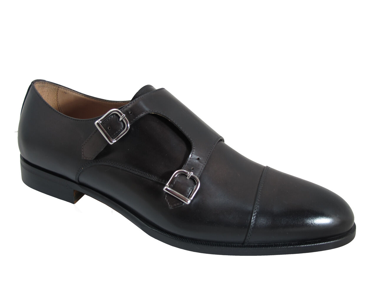 Doucals Men's 41187 Slip On Dressy Italian scarpe With Double Buckles
