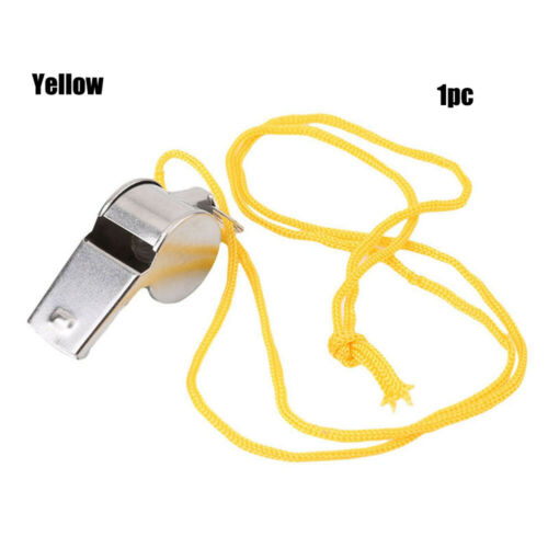 New Metal Referee Whistle With Key Ring Sport School Football Rugby Outdoor~
