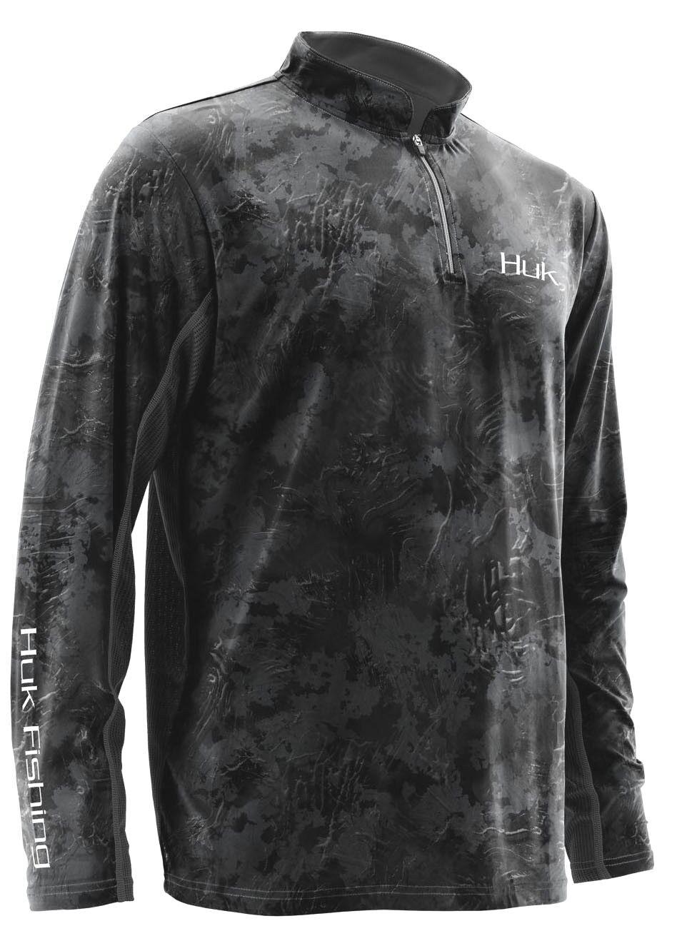 Huk mens subphantis icon 14 zip fishing shirt long sleeve upf night vision xl
