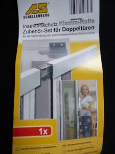 Schellenberg-50843-Insektenschutz-Klemm-Rollo-Zubehoer-Set-fuer-Doppeltueren