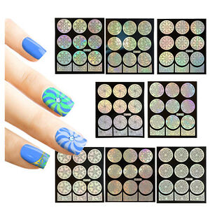 Winstonia-48-Nail-Art-Stencil-Vinyl-Template-Sticker-French-Tip-Easy-Manicure-US