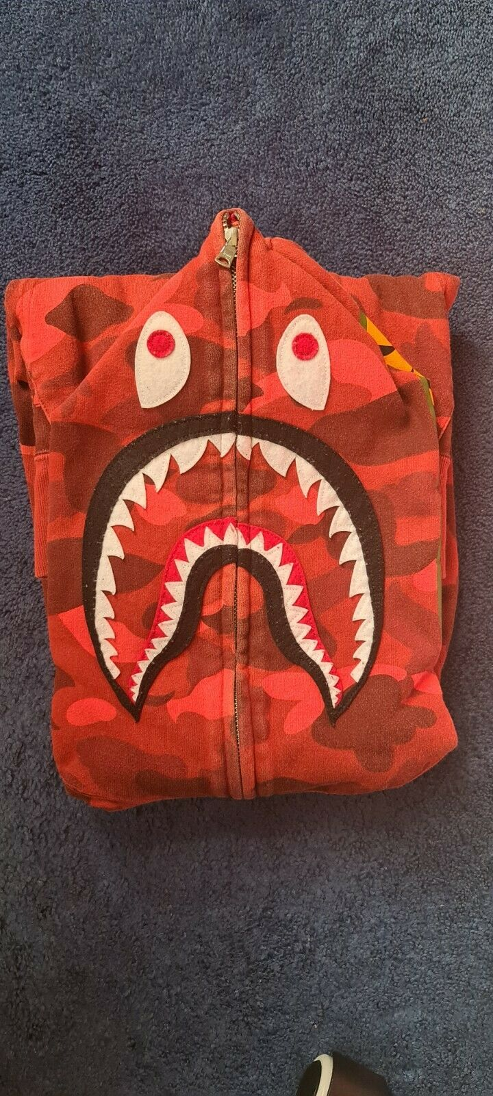 A Bathing Ape Red Colour Camo Shark Hoodie