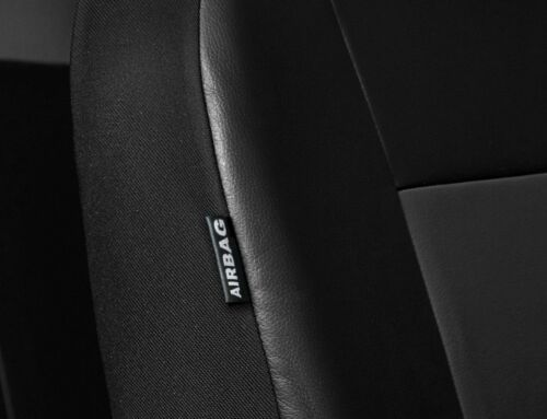 Car seat covers fit  Honda Jazz black//grey  leatherette full set
