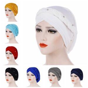 Head Scarf Turban Head Wrap Stretch Hat Muslim Hijab Braid Cancer ... bc2d878dcbf9