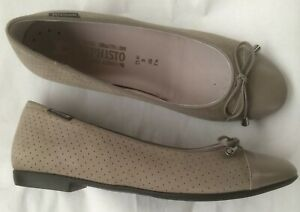 New-mephisto-shoes-ballerinas-beige-stippling-40-5