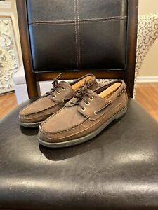 Rockport-Men-039-s-Boat-Shoes-Slip-On-Moc-Toe-Loafers-Brown-Size-8-5-M