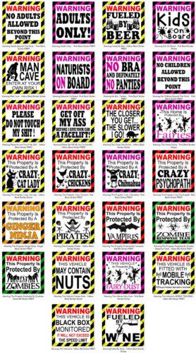 wall door window bumper Sticker Warning Please do not touch my sh#t car