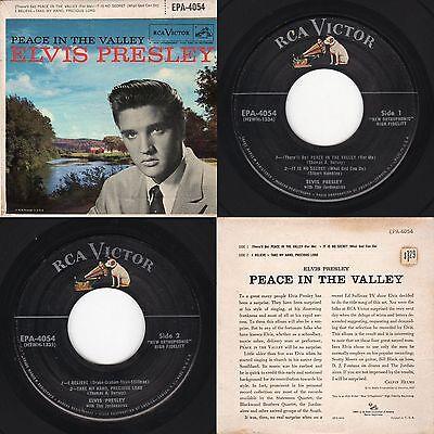 "Elvis Presley ""Peace In The Valley"" RCA Victor EPA-4054 1957 Gospel EP"