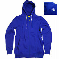 Park Men's Zip Hooded Sweatshirt Top Purple, Royal Blue M, L, Xl