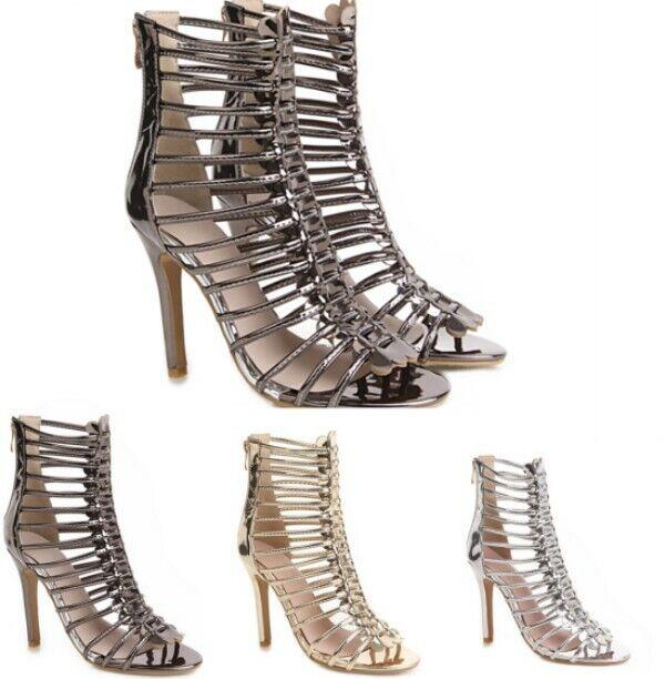 precios bajos Zapatos Stiletto Para Mujer Tacón Alto Cremallera Cremallera Cremallera Trasera Corte Opentoe Sandalias De Estilo Informal  a la venta