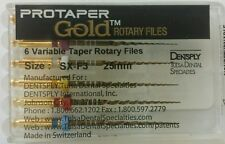 Protaper Gold Rotary Files 25 mm SX-F3 Dentsply Tulsa Assorted Endodontics Endo